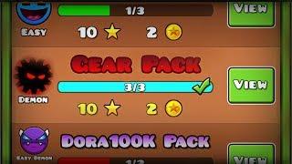 NEW GEAR PACK?! 'Gear / Gear II / Gear III' ALL LEVELS 100%! | Geometry Dash [2.1] - Dorami