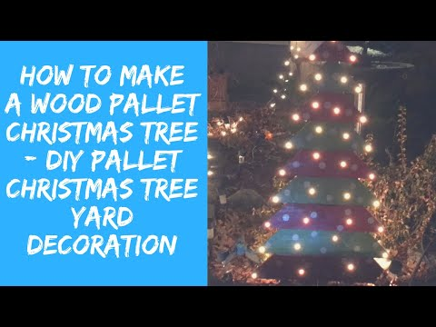 DIY Pallet Christmas Tree Yard Decoration - How To Make Easy Christmas Decoration