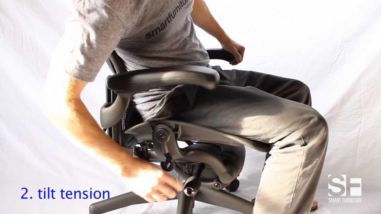 aeron chair manual cabela s deer blind chairs smartfurniture com adjustment guide youtube