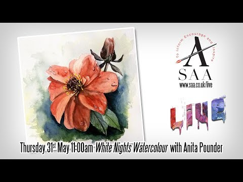 SAA LIVE - White Nights Watercolour with Anita Pounder