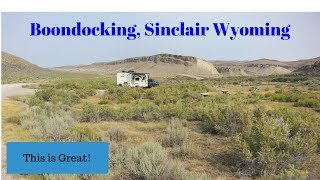 Dugway Rec Site Sinclair Wyoming. Free BLM camping.