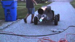 Pulse Jet Engine Go Kart Record Run 2 Passes