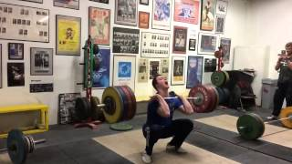 Ian Wilson 165kg/363lbs snatch and  202.5kg/445lbs clean and jerk