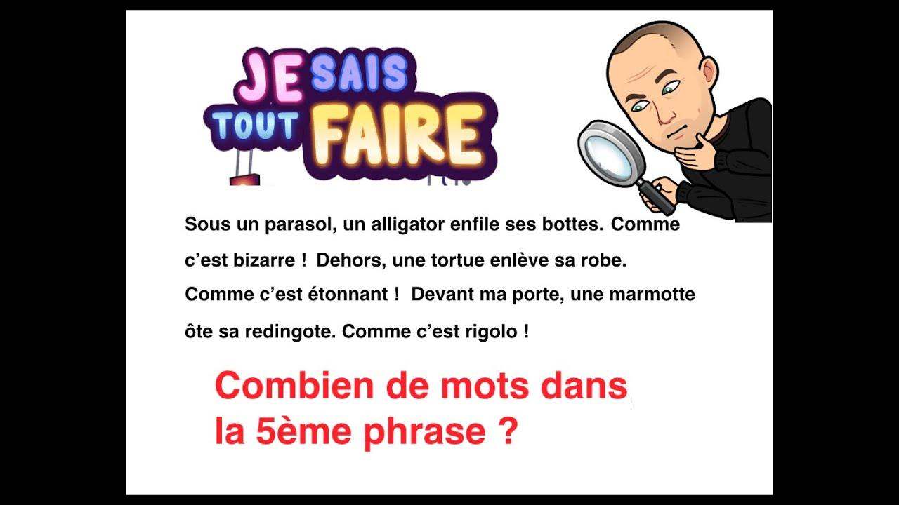 Cycle 2 Grammaire Francais Exercice Compter Les Phrases Les Lignes Et Les Mots Youtube