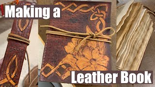 How I made a leather bound book!