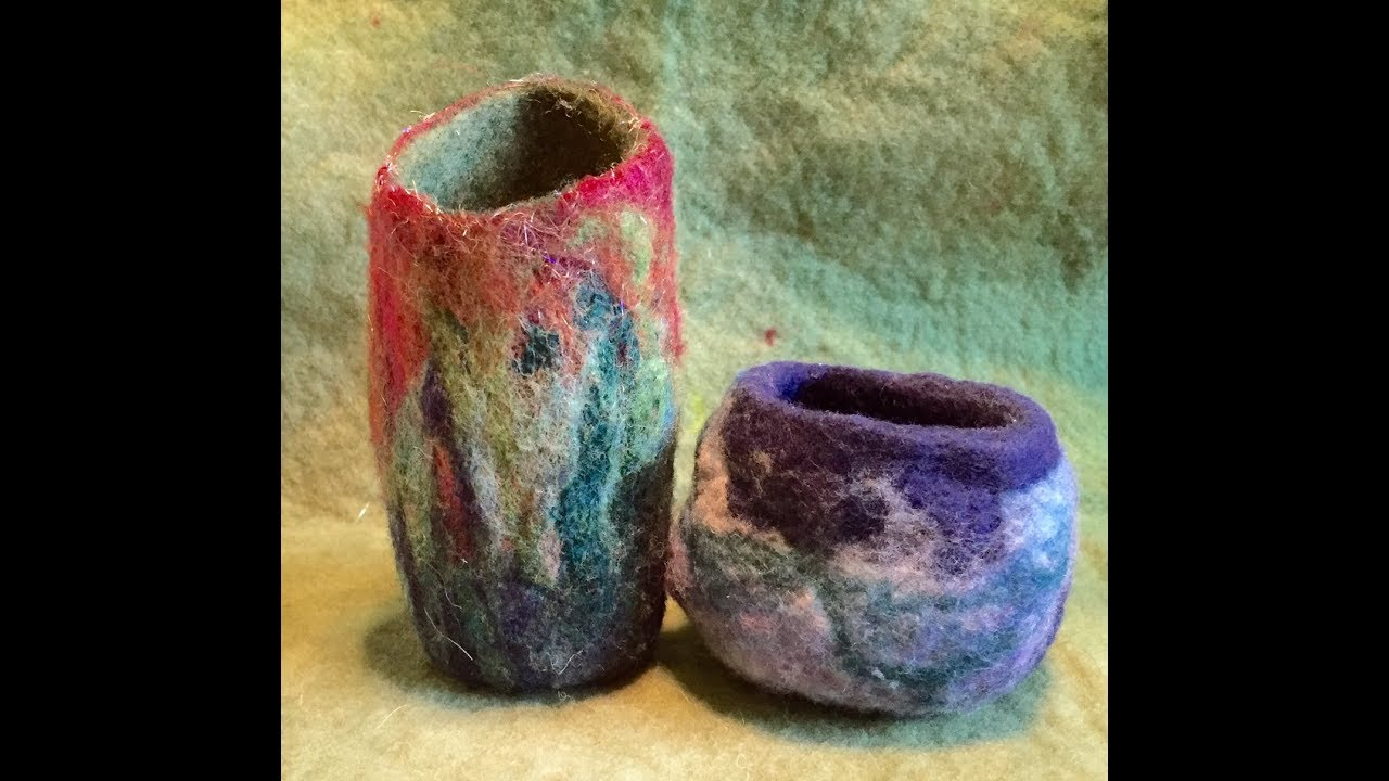 1283ae02e50 Wet Felted Wool Bowl - YouTube