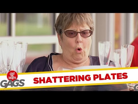 Shattering Plates Prank