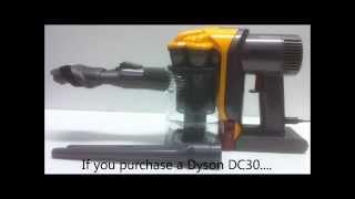 Dyson DC30 Warning