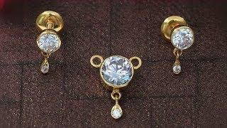 Simple Daily Wear Light Earrings Pendants Set Designs 2019   Indian Jewellery Design 2019