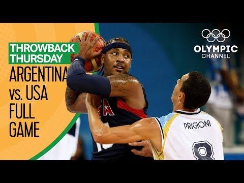 Argentina v USA - Beijing 2008 - Basketball Replays | Throwback Thursday