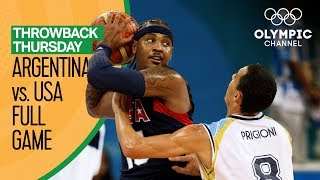 Argentina v USA - Beijing 2008 - Basketball Replays | Throwback Thursday