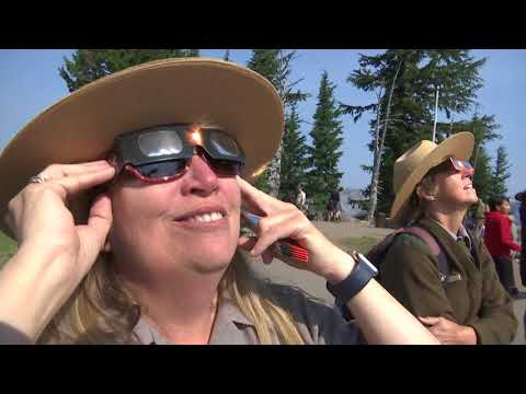 Viewing the eclipse at Crater Lake National Park