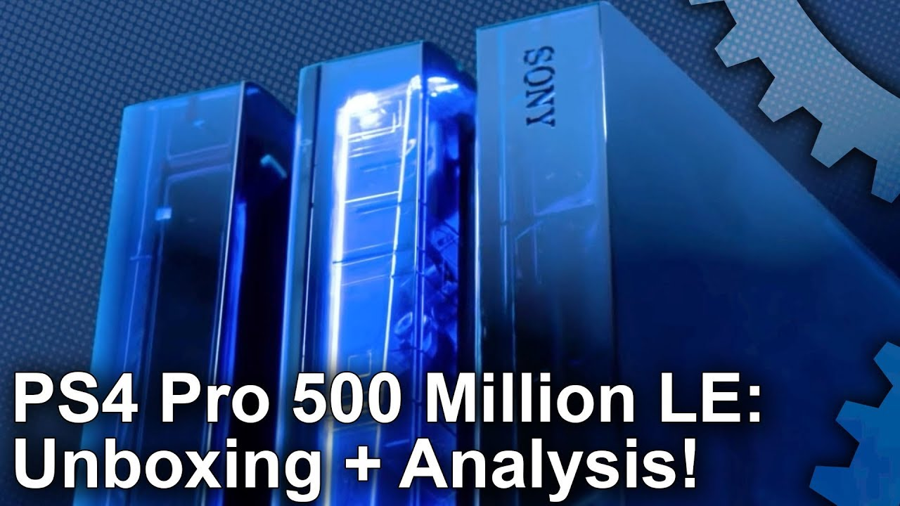 ps4 pro 500 million limited edition unboxing plus are. Black Bedroom Furniture Sets. Home Design Ideas