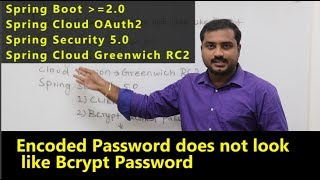 Encrypted Password does not look like BCrypt | Spring Boot 2 | Spring Security 5