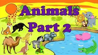 Animals. Part 2. Животные. Часть 2. Английский для детей. English for kids.