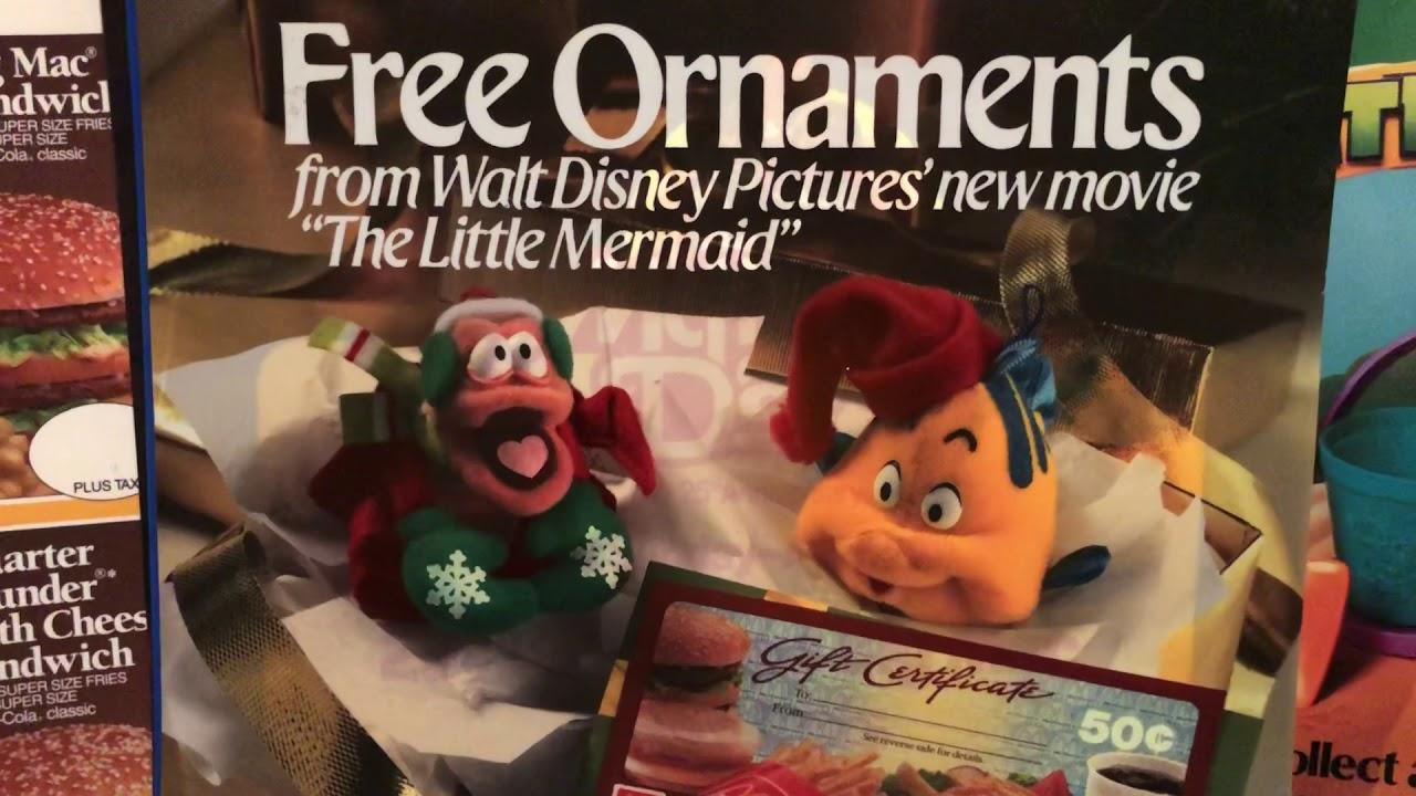 Mcdonalds Christmas Ornament.Mcdonald S The Little Mermaid 1989 Christmas Ornaments 80s Then 80s Now