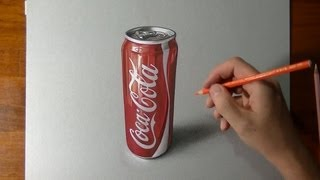 How to draw a coca cola slim can