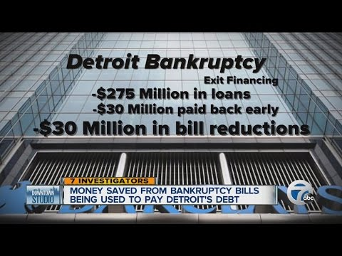 Detroit paying bankruptcy bills early