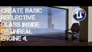 Basic Reflective Glass Window for Unreal Engine 4