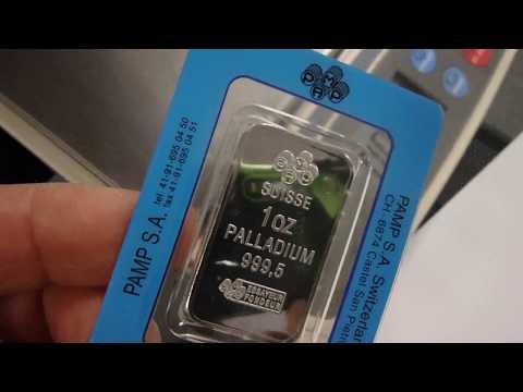 Palladium 1 Troy Ounce Bar - PAMP