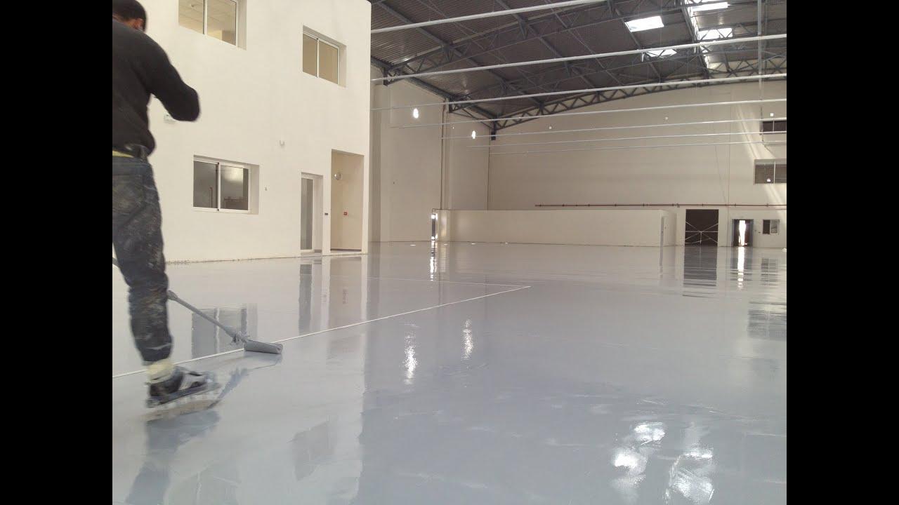 Sol En Resine Epoxy chantier résine epoxy sur le sol d'une unité industrielle à nouaceur  +212600390363