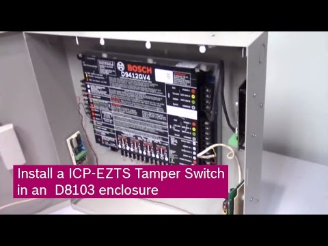 Bosch Security Systems Install A Icp Ezts Tamper Switch