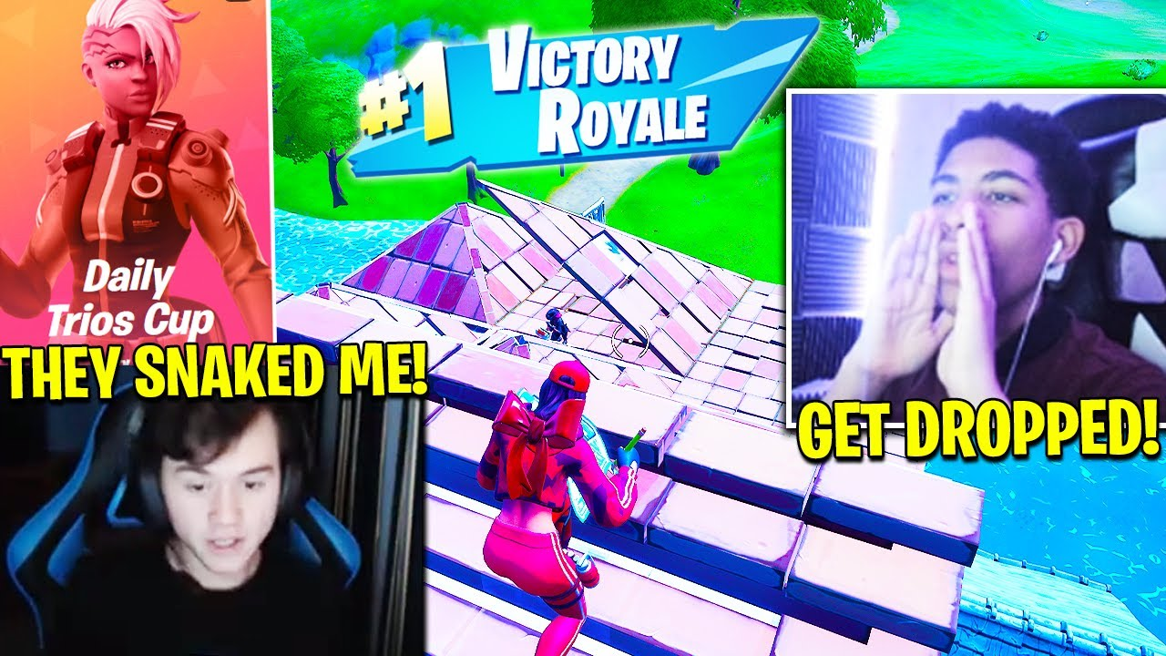 UNKNOWN *STEALS* BUGHA'S TRIO then WINS CASH CUP! (Fortnite Season 2 Chapter 2) Daily Trio Cup
