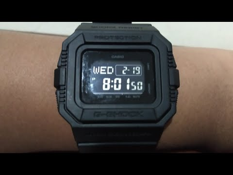 CASIO G-SHOCK DW D-5500BB UNBOXING | INDONESIA