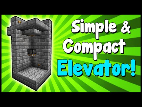 Simple & Compact Elevator! - Minecraft Tutorial
