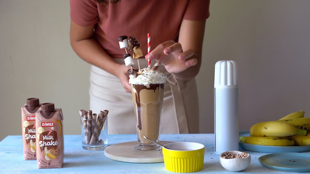 Marshmallowlu Muzlu Milkshake Tarifi | DİMES Club #OrtamıSalla