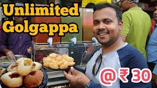 UNLIMITED GOLGAPPA @₹30 IN DELHI/Golgappa Eating Challenge/Tilak Nagar Delhi