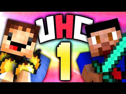 Minecraft UHC #1 (Season 12) - Ultra Hardcore with Vikkstar & Woofless