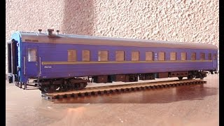 Обзор бумажной модели, пассажирского купейного вагона 47 К/к (Ammendorf), 1/87, Modeller