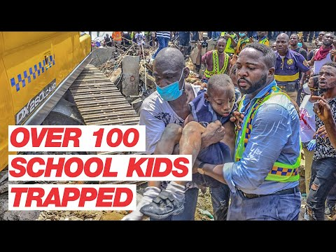 Lagos School Collapse: Over 100 School Kids Trapped in School Building, Many Feared Dead & Injured