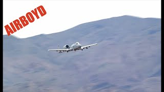 A-10 Live Fire At The Nevada Test and Training Range (NTTR)