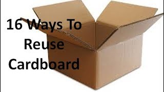 16 ways to reuse or repurpose cardboard sheets or boxes | Learning Process