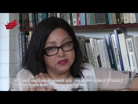 Professor Rozena Maart - on PHILOSOPHY BORN OF STRUGGLE