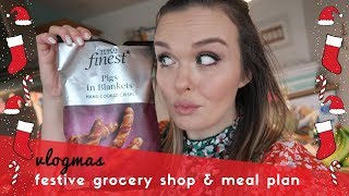 FESTIVE FAMILY GROCERY SHOP & MEAL PLAN FOR A FAMILY OF 5  - VLOGMAS DAY 10