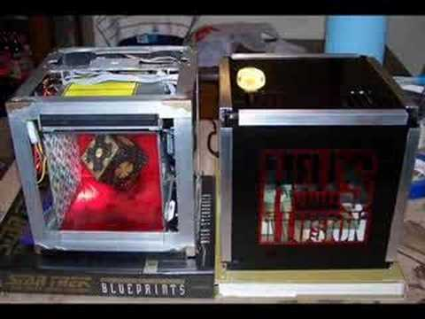 Hellusion Scratch Built Mini Itx Case Mod Youtube