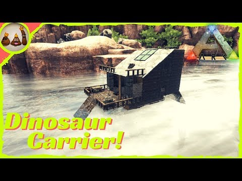 Dino Carrier/Mobile Base Raft Build! (No Mods!) | Ark: Survival Evolved Gameplay (PC)
