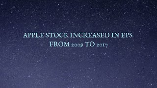 Apple Stock Increased In EPS from 2009 To 2017
