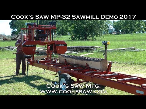 2017 Cooks MP32 Portable Sawmill Demo