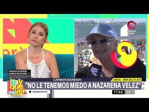 Carmen Barbieri: 'Nazarena nunca paró hablar mal de mi hijo'