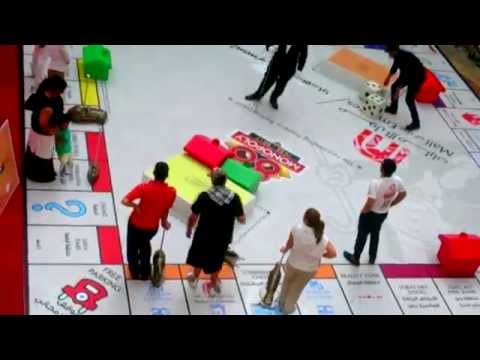 Idreese playing Monopoly at The Mall of Emirates