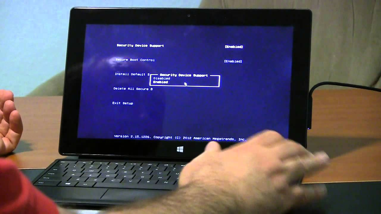 Surface Pro how to enter BIOS or UEFI