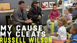 Russell Wilson Mentors Kids at Friends of the Children