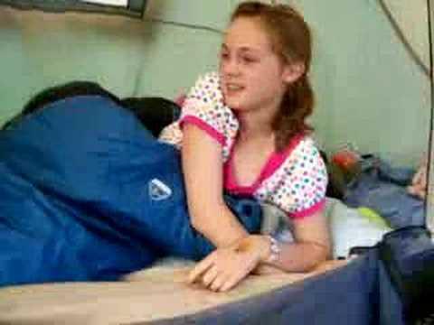 Me in a sleeping bag