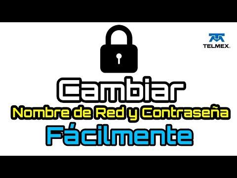 Telmex Cambiar Contraseña Modem WiFi y Nombre de Red WiFi