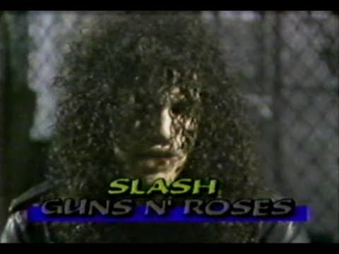 SLASH and DUFF from GUNS N' ROSES interview – MuchMusic 1988