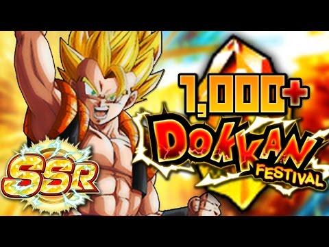 BRAH! 1,000+ Dragon Stone SUMMONS! Super Gogeta Dokkan Festival Banner! Dragon Ball Z Dokkan Battle